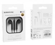 Наушники Borofone BM30 Original series Wire Control Earphone, с микрофоном, черные