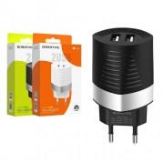 СЗУ USB Borofone BA26A, 2USB, 2.4A, Fast Chardger, черное