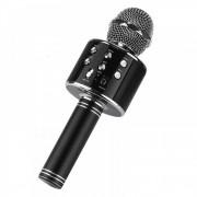 Микрофон-колонка WS-858 Bluetooth + FM + SD micro + USB + AUX, черная