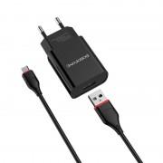 СЗУ USB Borofone BA20A с кабелем Type-C, 2.1A, черный