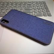 Чехол-накладкa для iPhone X/XS, деним, Memumi Invar, темно-синий