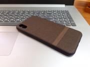"""Чехол-накладка для iPhone XR (6.1"""") деним, Memumi Mercler, коричневый"""