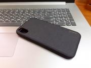 """Чехол-накладка для iPhone XR (6.1"""") деним, Memumi Mercler, черный"""