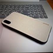 Чехол-накладка для iPhone X деним, Memumi Canvas, серый