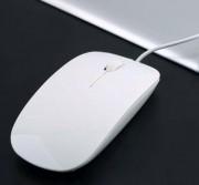 Apples мышь проводная, 1200 DPI, USB, белая