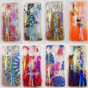 Чехол-накладка iPhone 6 силиконовый, с плавающими блёстками, в ассортименте