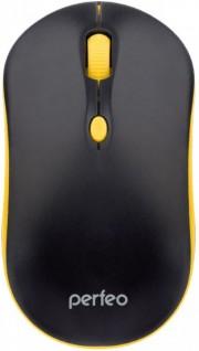 """Perfeo мышь оптическая """"MOUNT"""", 4 кн, DPI 800-1600, USB (PF_A4511) кабель 1,5м, черно-желтый"""