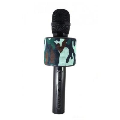 Микрофон-колонка V8 Bluetooth + FM + SD micro + USB + AUX, милитари