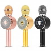 Микрофон-колонка WS-668 Bluetooth + FM + SD micro + USB + AUX, золотая