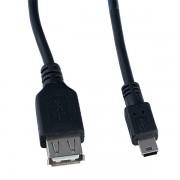 PERFEO Кабель USB2.0 A розетка - Mini USB 5P вилка, длина 0,5 м. (U4201)
