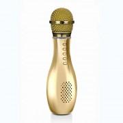 Микрофон-колонка Q007 Bluetooth + FM + SD micro + USB + AUX, золотая