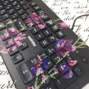 Клавиатура проводная мультимедийная с принтом Smartbuy 223 USB Flowers (SBK-223U-F-FC)
