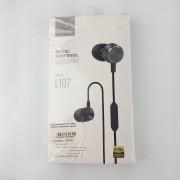 Наушники Zeceen L107 Metal Earphone, вакуумные, черные