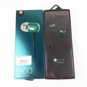Наушники Zeceen B60 вакуумные, зеленые
