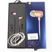 Наушники Zeceen B60 вакуумные, золотисто-розовые