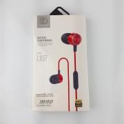 Наушники Zeceen L107 Metal Earphone, вакуумные, красные