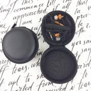 Чехол для наушников №4 круглый, черный