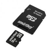 Micro SD 32GB SmartBuy (Class 10) с адаптером COMPACT (SB32GBSDCL10-01_С)