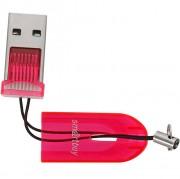 Smartbuy Картридер USB 2.0 - MicroSD, 710 красный (SBR-710-R)