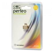 Perfeo USB adapter with OTG (PF-VI-O003 Gold) золотой PF_5045