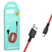 Hoco кабель Micro USB X29 черно-красный, длина 1м