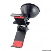 """Perfeo-505 Автодержатель для смартфона/навигатора/ до 6""""/ на стекло/ прищепка/ Promo/PF_4221,черный"""