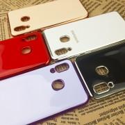 Чехол-накладка для Huawei Honor 20 силиконовый с каймой Style, золотисто-розовый
