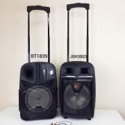 Блютуз-колонка BT-1839, FM, SD+Micro SD, USB, AUX, c микрофоном и пультом, черная