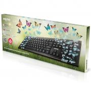 Клавиатура проводная мультимедийная с принтом Smartbuy 223 USB Butterflies (SBK-223U-B-FC)