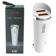 АЗУ Vidvie CC506 2USB + кабель Micro USB, 2.4A, белый