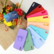 """Чехол-накладка для iPhone XR (6.1"""") силиконовый с кольцом Soft+Ring, красный"""