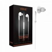 Наушники Vidvie HS619 с микрофоном, вакуумные, белые