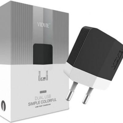 СЗУ Vidvie PLE 203 2USB + кабель iPhone 5/6 2.4A (Fast charging), черный