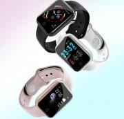 Детские Часы Smart i5, металл /пульсометр/шагомер, черный