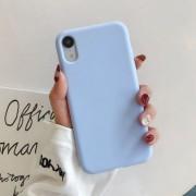 "Чехол-накладка для iPhone X серия ""Оригинал"", бледно-голубой"