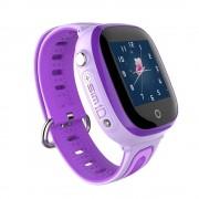 Часы детские Smart DF31, им-карта/GPS/влагозащита IP67/камера в метал. боксе, фиолетовые