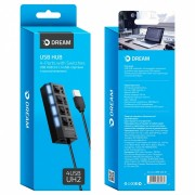 DREAM USB-HUB DRM-UH2-01 4USB черный