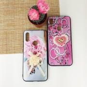 Чехол-накладка для Huawei Honor 10 силиконовый 3D Бант, Сердце