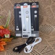 XO NB008 кабель Micro USB белый, длина 1м