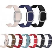 Ремешок для Apple Watch 38-40mm, Lady magnetic leather, кожаный, красный