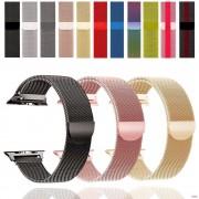 """Ремешок для Apple Watch 42-44mm, """"Миланская петля"""" металлический Double Color, черно-белый"""