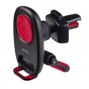 """Perfeo-533-2 Автодержатель для смартфона до 6,5""""/ на воздуховод/ магнитный/ с опорой/ черный+красный"""