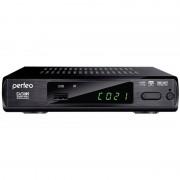 Perfeo DVB-T2 приставка для цифрового TV, DolbyDigital, HDMI, внутренний блок питания (PF-168-1-IN)