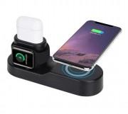 Беспроводное зарядное устройство W3 (4в1)  Apple Watch / AirPods / Phone / USB