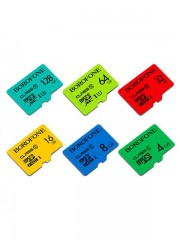 Micro SDHC TF high speed memory card 8GB BOROFONE, class 10, синий