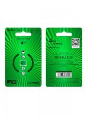 Micro SDHC TF high speed memory card 4GB BOROFONE, class 6, зеленый