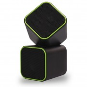 Акустическая система SmartBuy® CUTE, мощность 6Вт, USB, черно-зеленая (SBA-2580)
