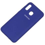 Накладка Silicone case NEW для Samsung A50/A50S/A30S, синяя