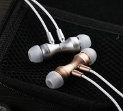 Наушники Zeceen W330 Metal Magnetic Headphones, вакуумные, серебро