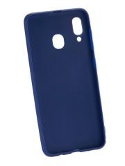 Накладка Silicone case NEW для Samsung A20/A30, синяя